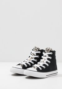 Converse - CHUCK TAYLOR ALL STAR LEOPARD PRINT - Høye joggesko - black/driftwood/white - 3