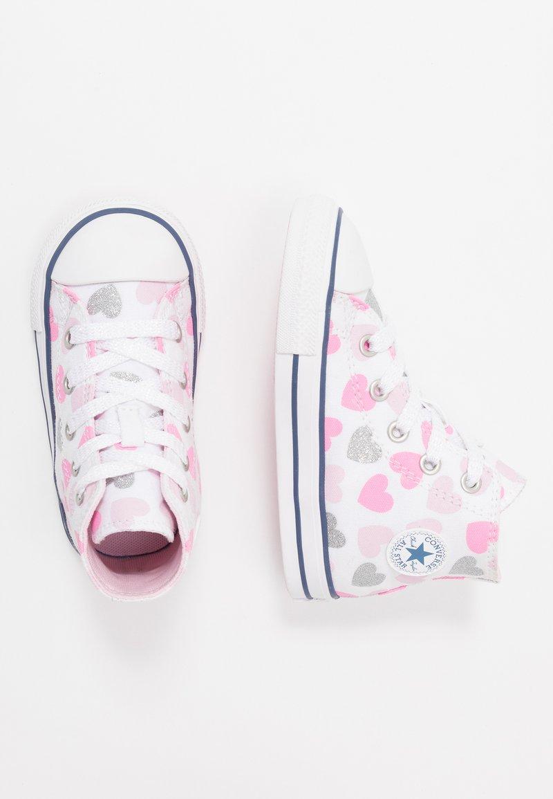 Converse - CHUCK TAYLOR ALL STAR HEARTSFALL  - Høye joggesko - white/cherry blossom/silver