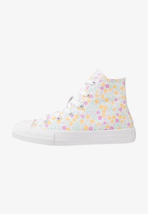 CHUCK TAYLOR ALL STAR FLORAL - Zapatillas altas - white/topaz gold/peony pink
