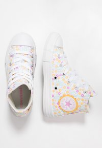 Converse - CHUCK TAYLOR ALL STAR FLORAL - Sneakers hoog - white/topaz gold/peony pink - 0