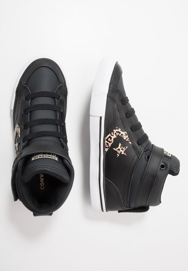 PRO BLAZE STRAP LEOPARD PRINT - High-top trainers - black/desert ore/rose gold
