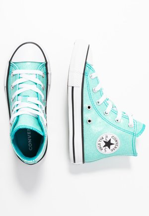 CHUCK TAYLOR ALL STAR COATED GLITTER  - Korkeavartiset tennarit - rapid teal/black/white