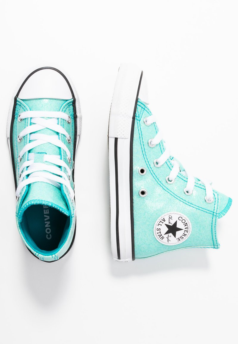 Converse - CHUCK TAYLOR ALL STAR COATED GLITTER  - Zapatillas altas - rapid teal/black/white