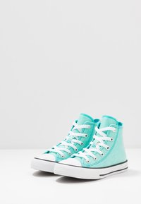 Converse - CHUCK TAYLOR ALL STAR COATED GLITTER  - Zapatillas altas - rapid teal/black/white - 3