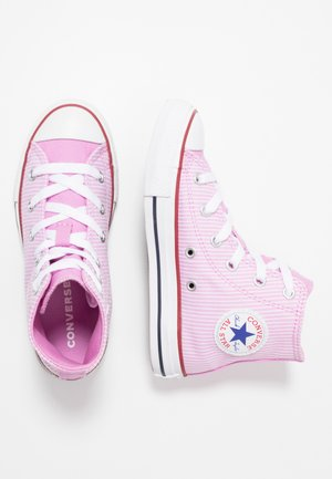 CHUCK TAYLOR ALL STAR PINSTRIPE - Sneakers alte - peony pink/garnet/white
