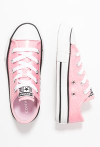 Converse - CHUCK TAYLOR ALL STAR COATED GLITTER  - Sneakers laag - cherry blossom/black/white - 0