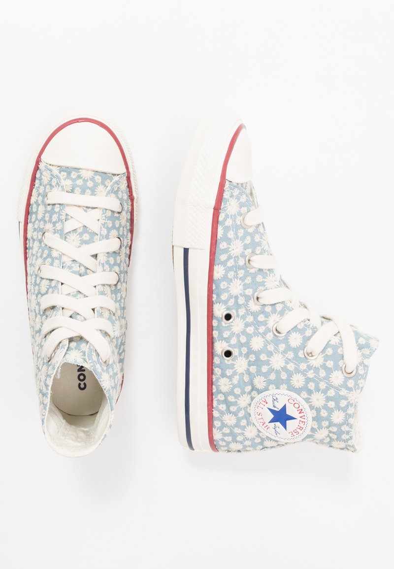 Converse - CHUCK TAYLOR ALL STAR LITTLE MISS - Vysoké tenisky - washed denim/garnet/midnight navy
