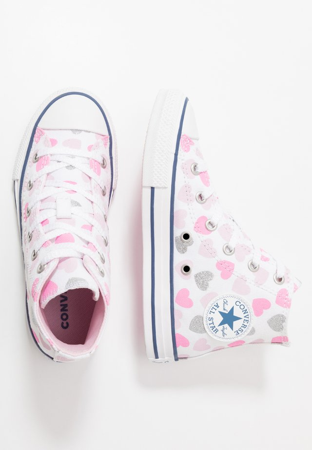 CHUCK TAYLOR ALL STAR HEARTSFALL  - Sneakers hoog - white/cherry blossom/silver