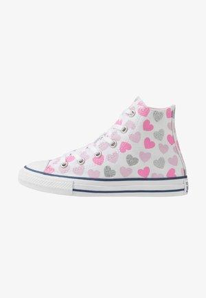 CHUCK TAYLOR ALL STAR HEARTSFALL  - Zapatillas altas - white/cherry blossom/silver