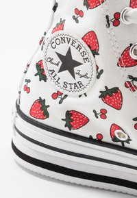 Converse - CHUCK TAYLOR ALL STAR PLATFORM EVA - Høye joggesko - white/garnet - 2