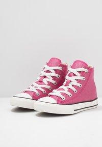 Converse - CHUCK TAYLOR ALL STAR - Vysoké tenisky - cerise pink/natural ivory - 3