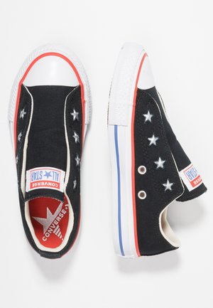 CHUCK TAYLOR ALL STAR - Slippers - black/habanero red/ozone blue