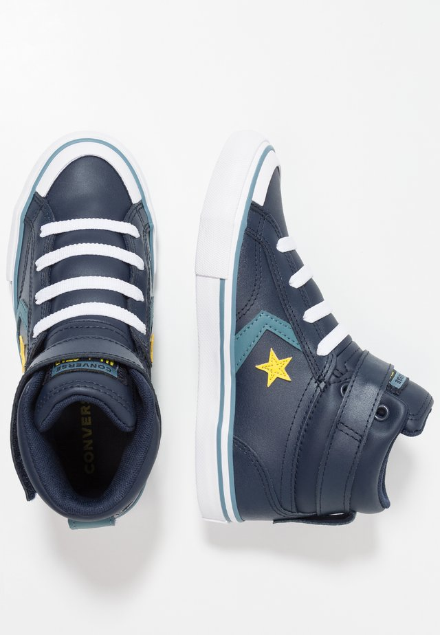 PRO BLAZE STRAP - High-top trainers - obsidian/celestial teal