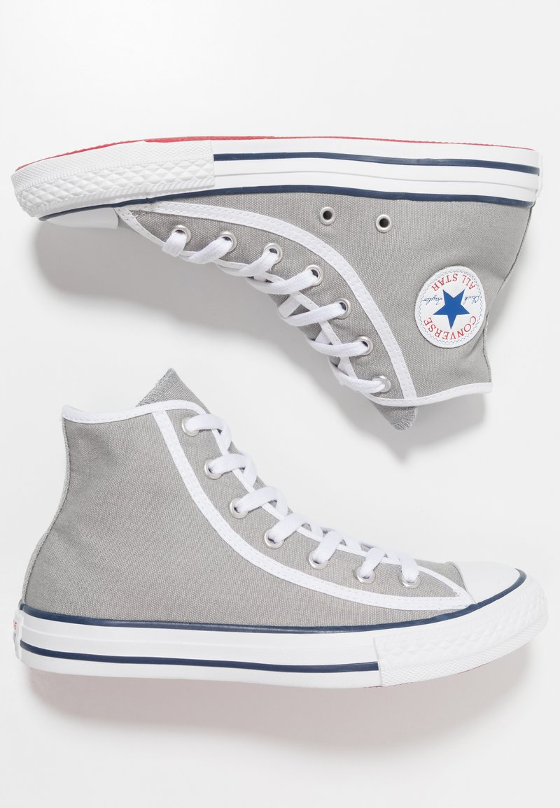 Converse - CHUCK TAYLOR ALL STAR - Sneakers high - dolphin/white/gym red