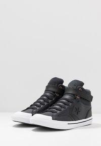 Converse - PRO BLAZE STRAP MARTIAN - Sneakers alte - almost black/black/mason - 3