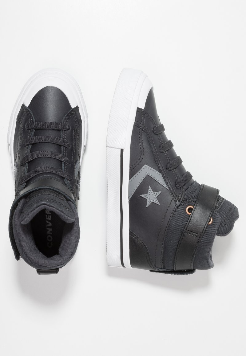 Converse - PRO BLAZE STRAP MARTIAN - Höga sneakers - almost black/black/mason