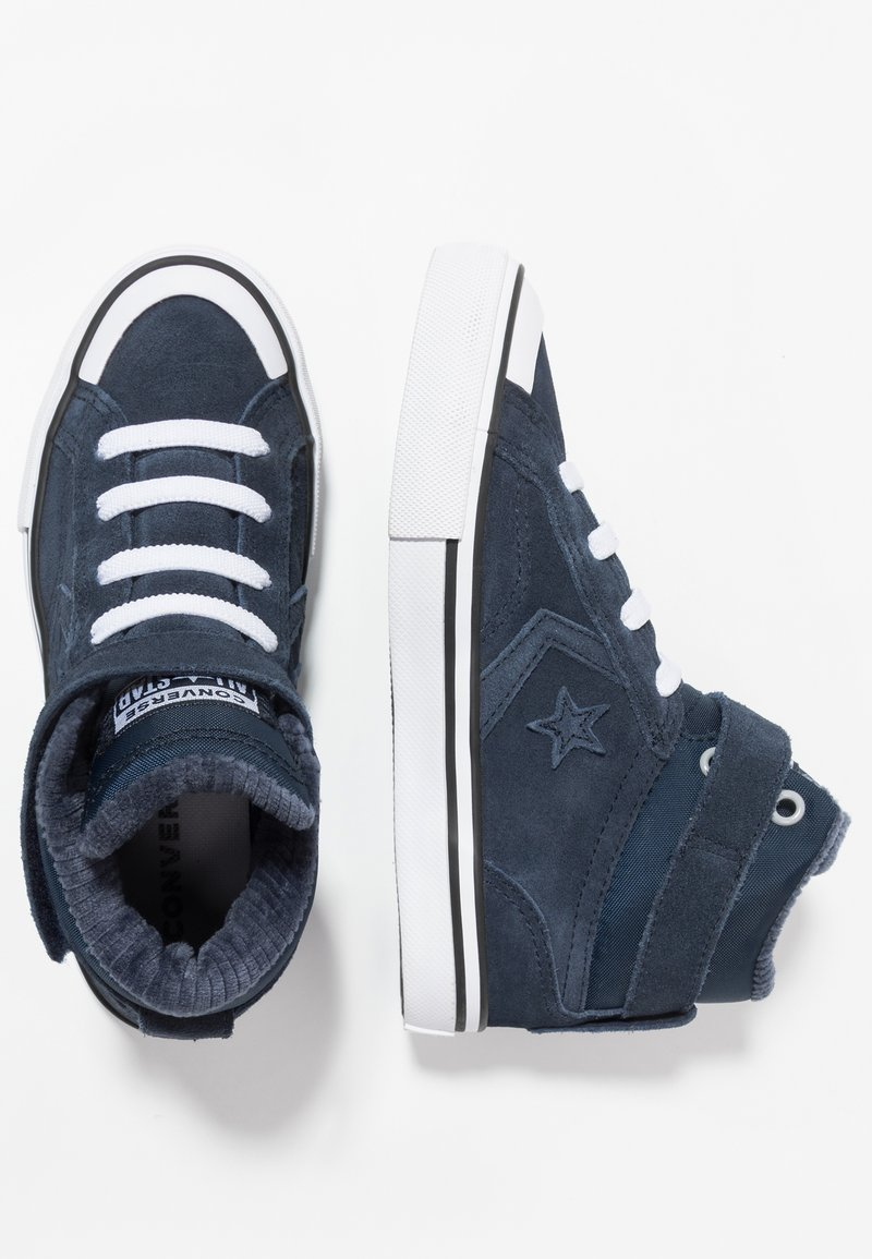 Converse - PRO BLAZE STRAP SPACE RIDE - Sneaker high - obsidian/wolf grey/white