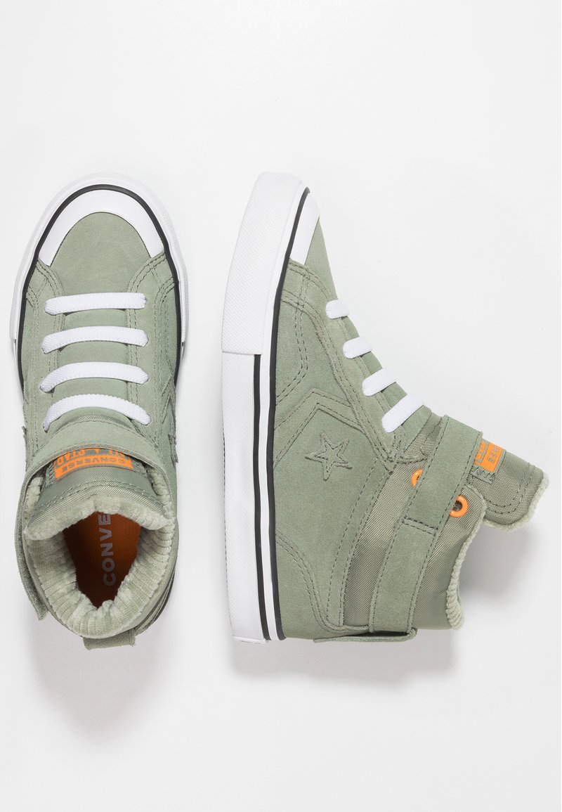 Converse - PRO BLAZE STRAP SPACE RIDE - Sneaker high - jade stone/orange rind/white