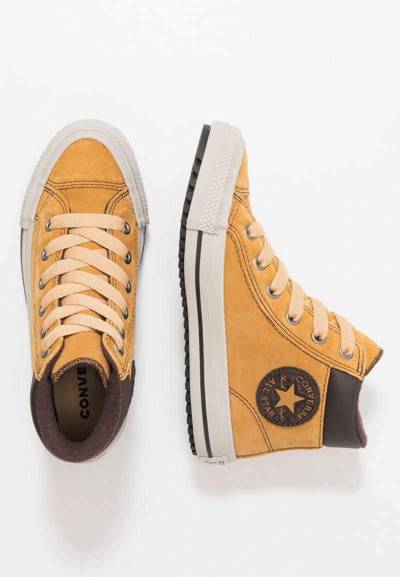 Converse - CHUCK TAYLOR ALL STAR BOOTS ON MARS - Höga sneakers - wheat/pale wheat/birch bark