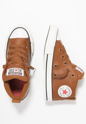 CHUCK TAYLOR ALL STAR STREET MID - High-top trainers - warm tan/habanero red