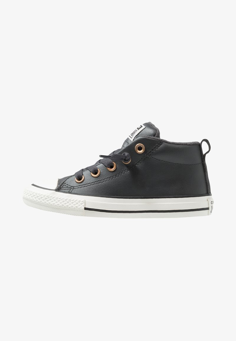 Converse - CHUCK TAYLOR ALL STAR STREET MID - Sneakers high - almost black/blue/black
