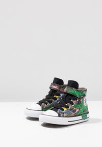 Converse - CHUCK TAYLOR ALL STAR INTERSTELLAR DINO'S - High-top trainers - mason taupe/bold kiwi/black - 3