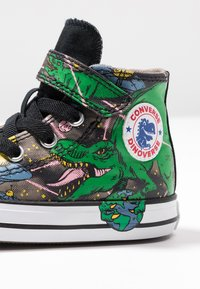 Converse - CHUCK TAYLOR ALL STAR INTERSTELLAR DINO'S - High-top trainers - mason taupe/bold kiwi/black - 2