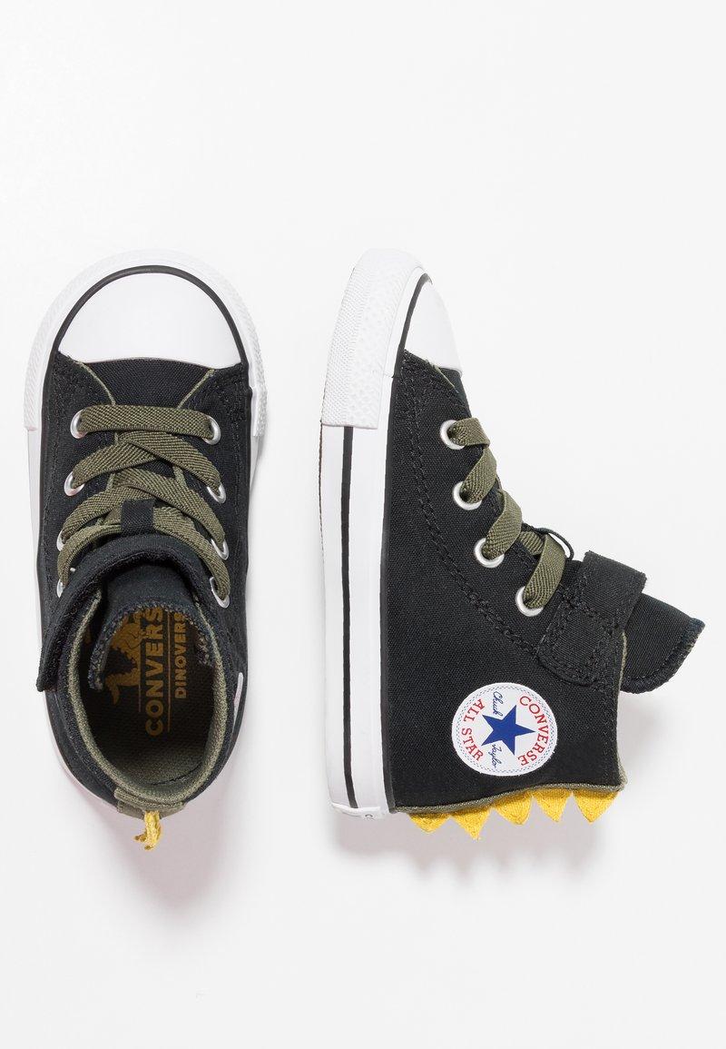 Converse - CHUCK TAYLOR ALL STAR DINO SPIKES - Sneaker high - black/field surplus/white