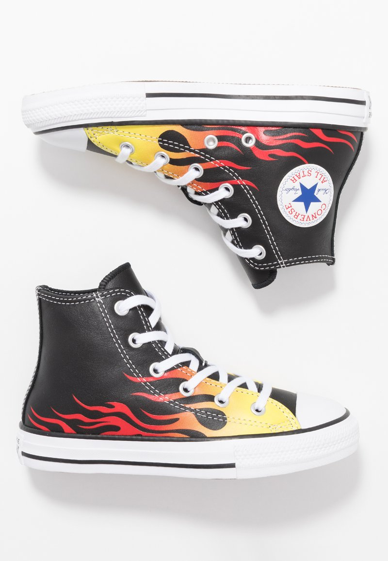 Converse - CHUCK TAYLOR ALL STAR - Sneakers alte - black/white/fresh yellow