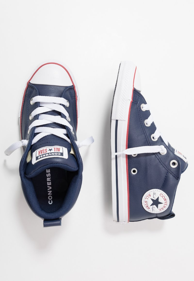 Converse - CHUCK TAYLOR ALL STAR STREET MID - Høye joggesko - white/navy/gym red