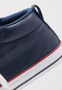 Converse - CHUCK TAYLOR ALL STAR STREET MID - Høye joggesko - white/navy/gym red - 2