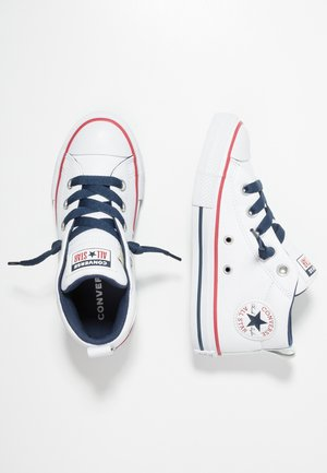 CHUCK TAYLOR ALL STAR STREET MID - Høye joggesko - navy/white