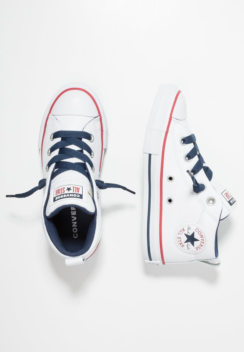 Converse - CHUCK TAYLOR ALL STAR STREET MID - Sneakersy wysokie - navy/white