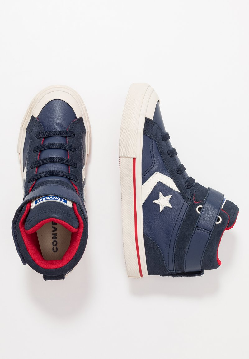 Converse - PRO BLAZE STRAP - Sneakersy wysokie - midnight navy/turtledove/obsidian