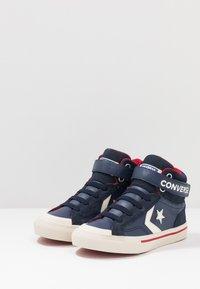 Converse - PRO BLAZE STRAP - Sneakers alte - midnight navy/turtledove/obsidian - 3