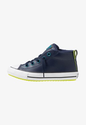CHUCK TAYLOR ALL STAR STREET WARMTH - Høye joggesko - obsidian/green abyss/bold lime