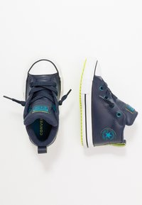 Converse - CHUCK TAYLOR ALL STAR STREET WARMTH - Sneakers high - obsidian/green abyss/bold lime - 0