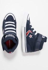 Converse - PRO BLAZE STRAP EMBROIDERED - Zapatillas altas - obsidian/university red/white - 0