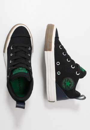 CHUCK TAYLOR ALL STAR OLLIE TRANSLUCENT MID - Sneakers basse - black/obsidian/green