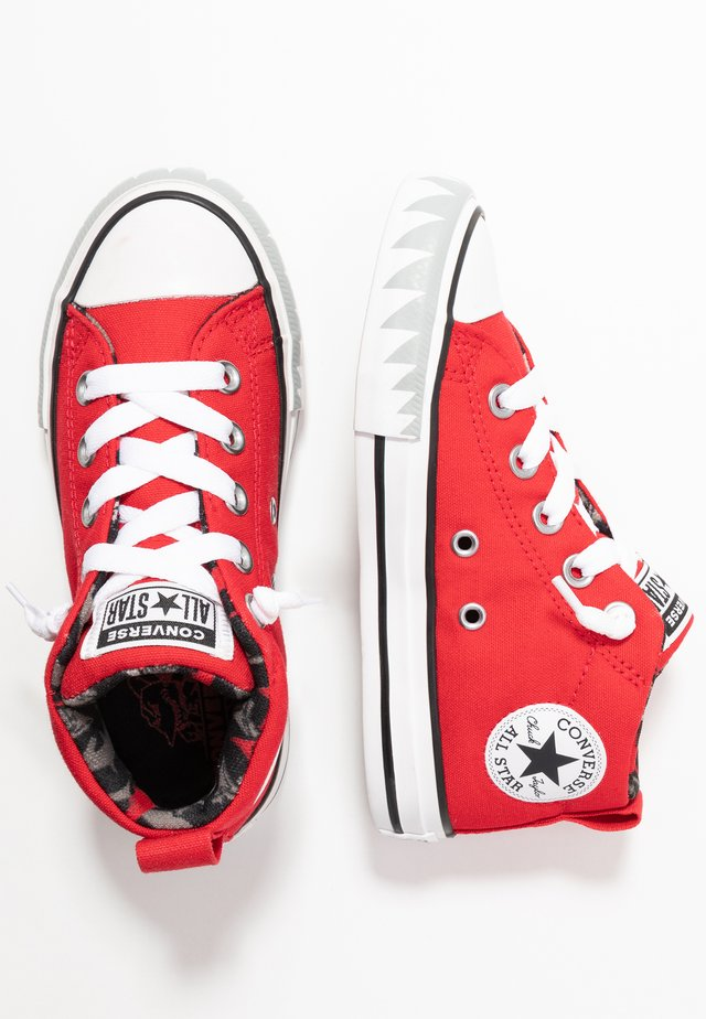 CHUCK TAYLOR ALL STAR STREET SHARK MID - Sneakers hoog - university red/black/white