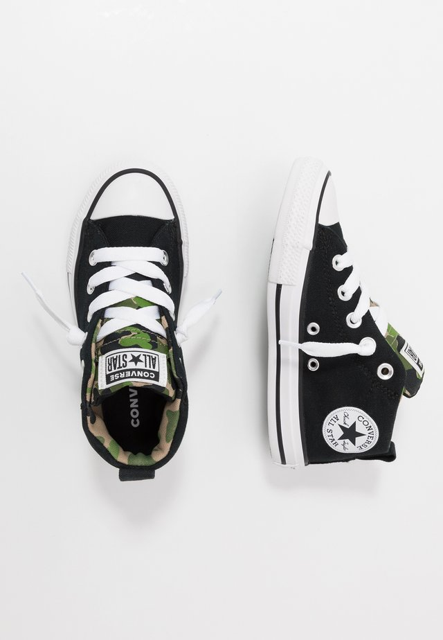 CHUCK TAYLOR ALL STAR STREET MID - High-top trainers - black/khaki/white