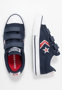 Converse - STAR PLAYER EMBROIDERED - Trainers - obsidian/university red/white - 0