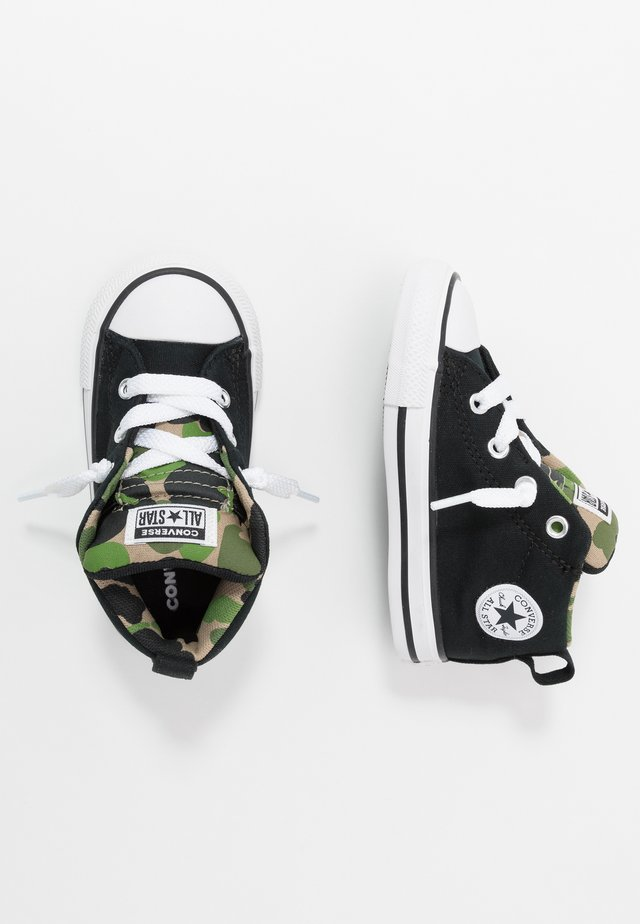 CHUCK TAYLOR ALL STAR STREET - Sneakers hoog - black/khaki/white