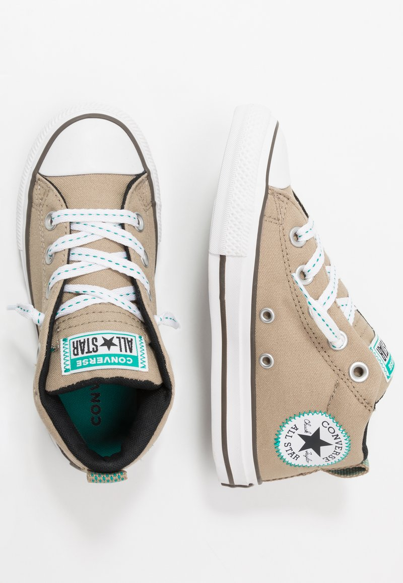 Converse - CHUCK TAYLOR ALL STAR STREET - Vysoké tenisky - khaki/malachite/black