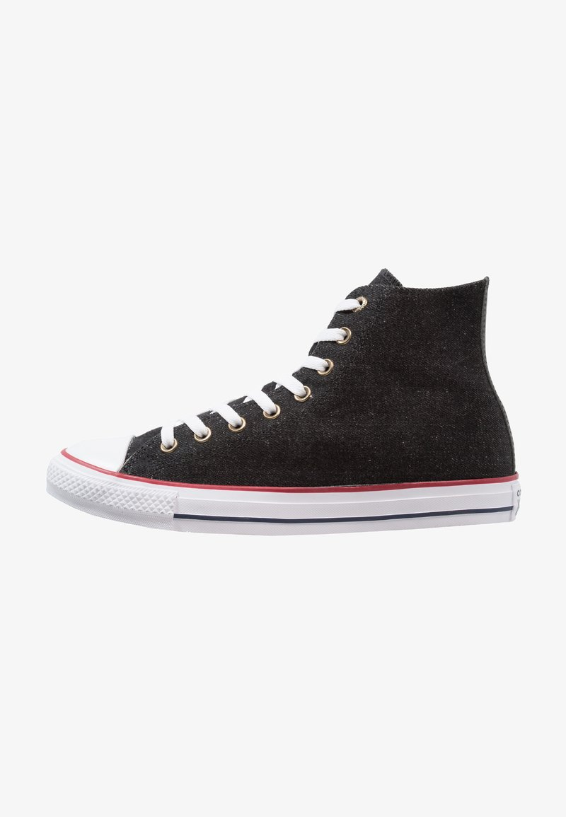 Converse - CHUCK TAYLOR ALL STAR HI - Sneakers high - black/white/brown