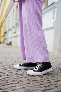 Converse - CHUCK TAYLOR ALL STAR HI RENEW - Korkeavartiset tennarit - black/black/white - 8