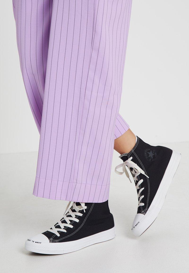 Converse - CHUCK TAYLOR ALL STAR HI RENEW - Sneaker high - black/black/white