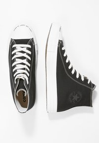 Converse - CHUCK TAYLOR ALL STAR HI RENEW - Korkeavartiset tennarit - black/black/white - 3
