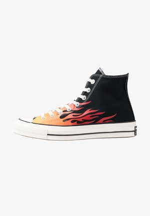 CHUCK TAYLOR ALL STAR 70 ARCHIVE PRINTS REMIXED - High-top trainers - black/enamel red/bold mandarin