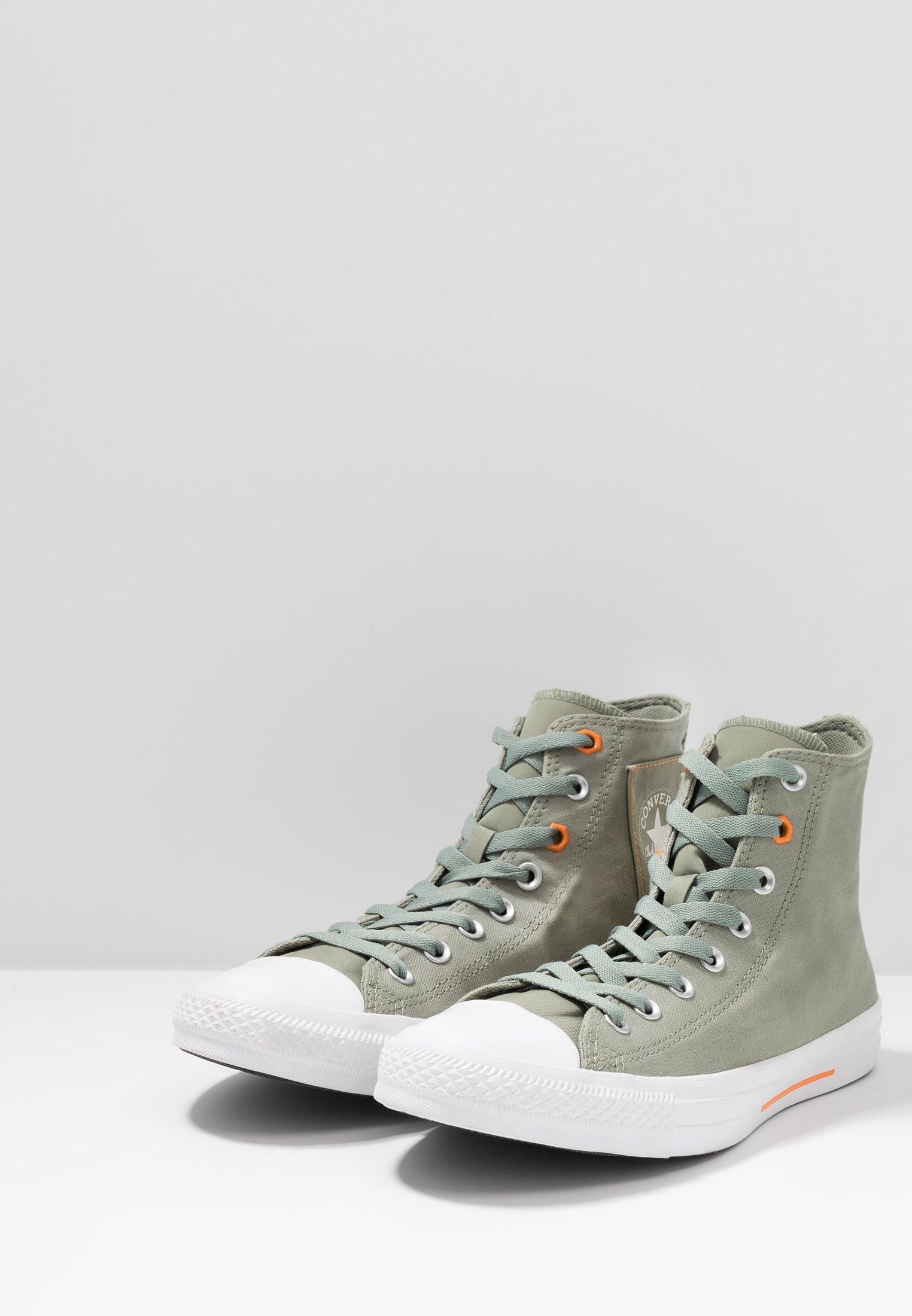 Converse Chuck Taylor All Star Flight School - Sneakers Hoog Jade Stone/orange Rind/white